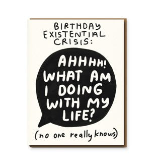 1973 Birthday Card-Birthday Crisis