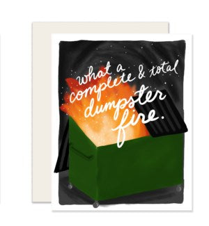 Slightly Blank Card-Dumpster Fire