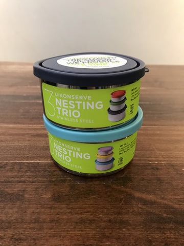 Ukonserve Stainless Steel Containers-Nesting Trio