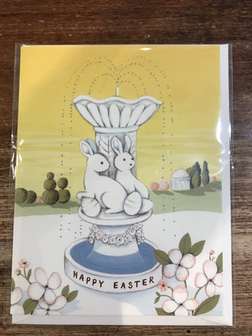 Joojoo Paper Easter Card-Easter Fountain