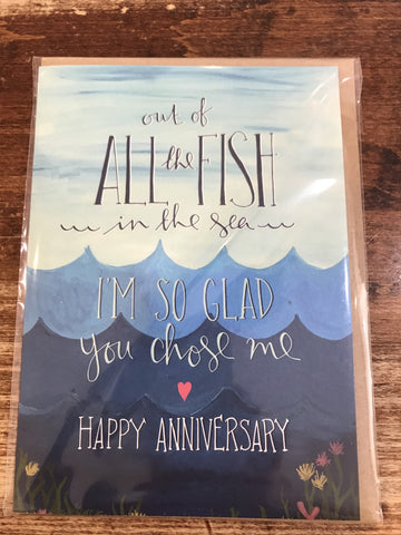 The Little Posy Print Co. Anniversary Card-All the Fish