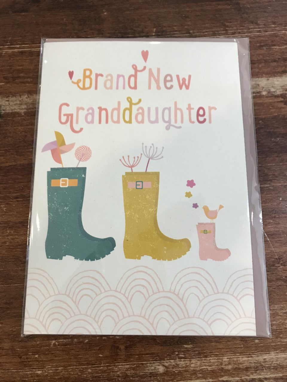 Velvet Olive Baby Card-Brand New Granddaughter