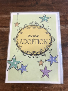 Scarlett Greetings Baby Card-On Your Adoption
