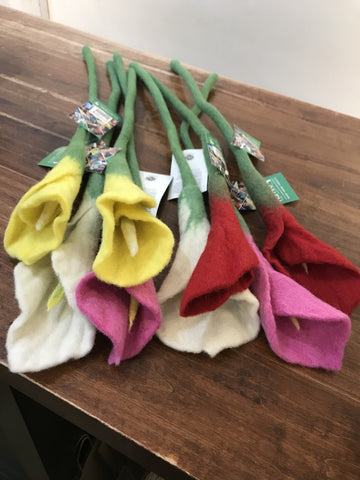 Hamro Village Felted Flower-Cala Lily-Assorted