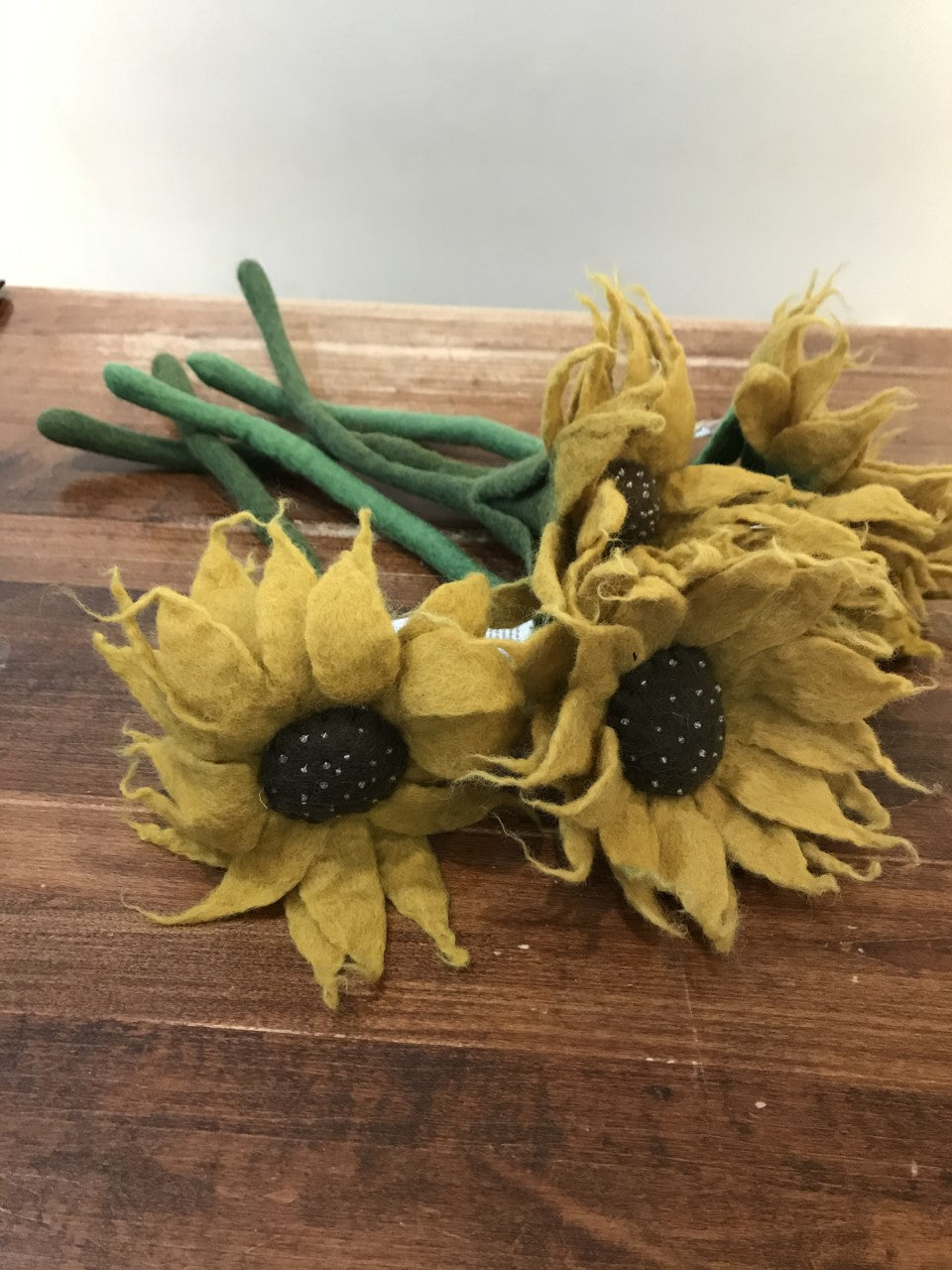 Hamro Village Felted Flower-Sunflower