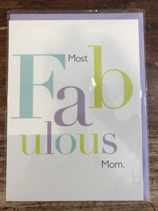 J Falkner Mother's Day Card-Most Fabulous Mom