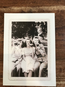 Retrospect Mother's Day Card-Three Girls Drinking Beer