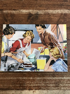 Retrospect Mother's Day Card-Ladies in Kitchen
