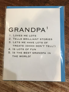 Halfpenny Postage Father's Day Card-AS Grandpa Definition