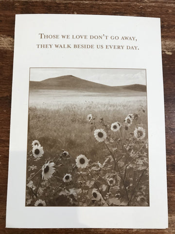 Shannon Martin Sympathy Card-Walk Beside Us