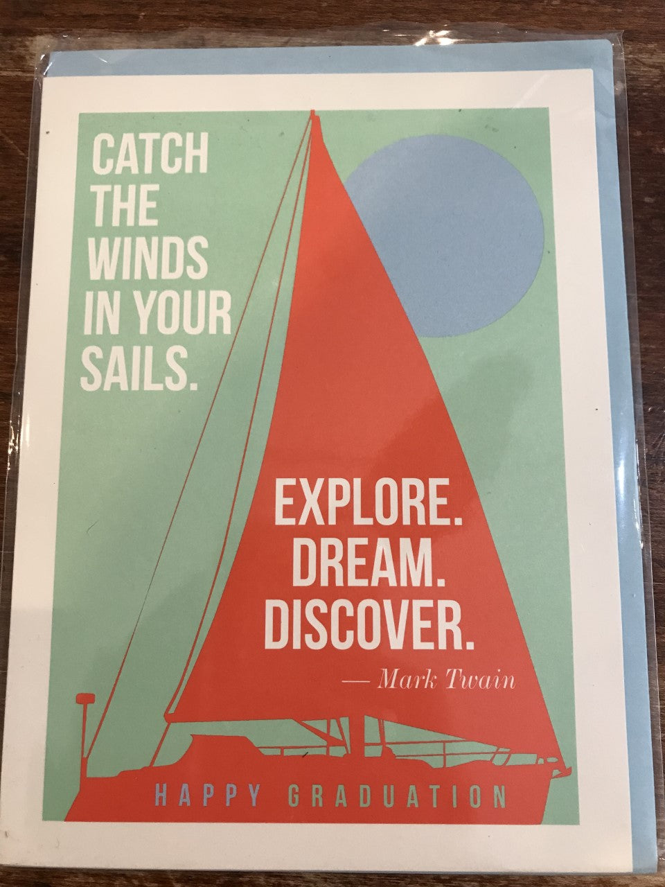 J. Falkner Graduation Card-Explore Dream Discover