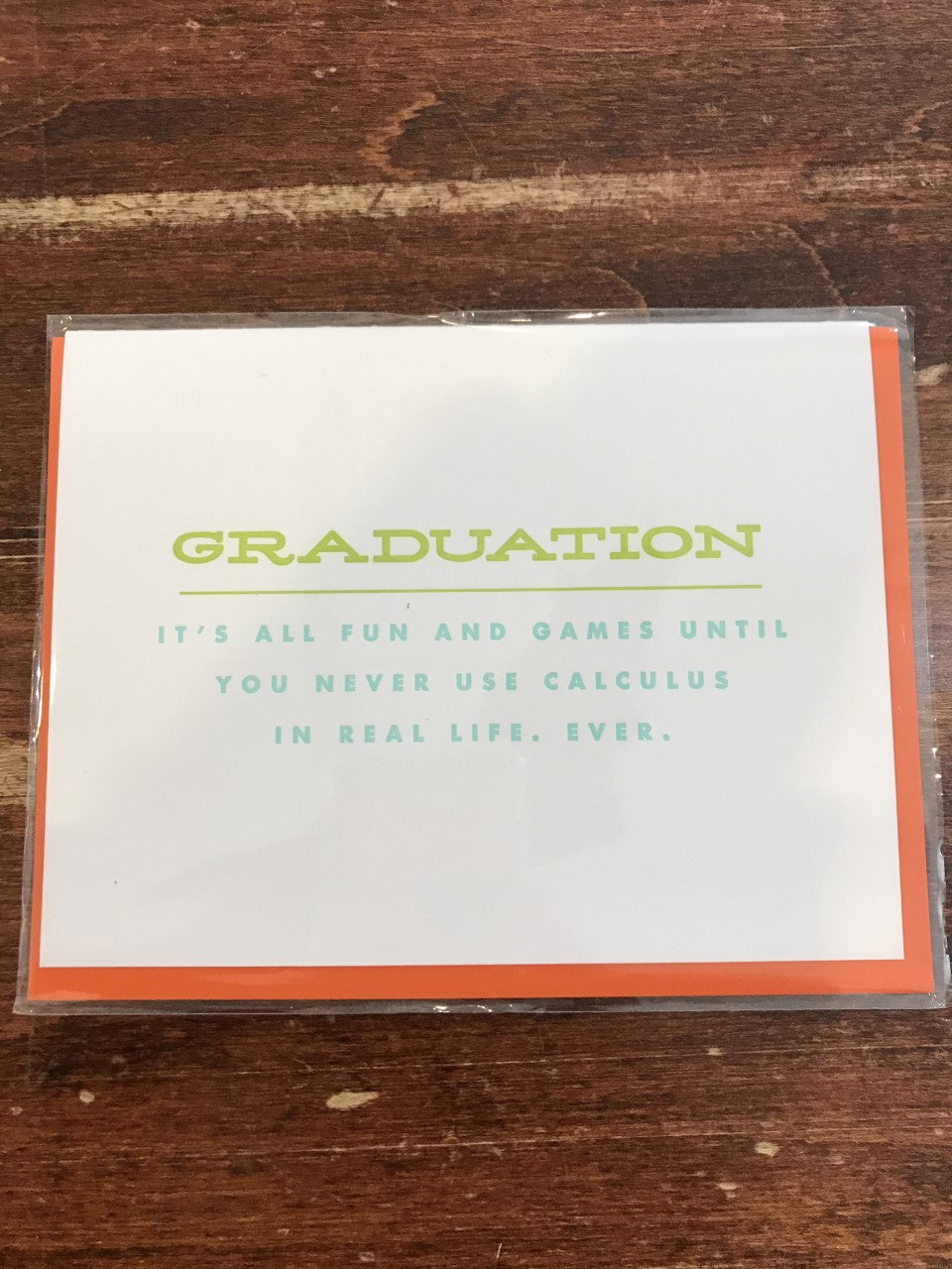 Farewell Paperie Graduation Card-F/G Until Never Use Calculus