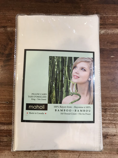 Maholi Bamboo Pillowcase-Solid-King-Set of 2