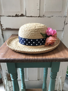 Facinie Hat-Casual Hat Toyo with Flower