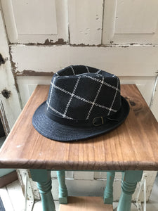 Facinie Hat-Fedora Toyo Weave With Buckle-Black