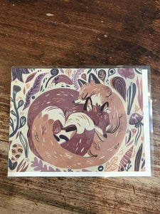Red Cap Cards Love Card-Fox Love