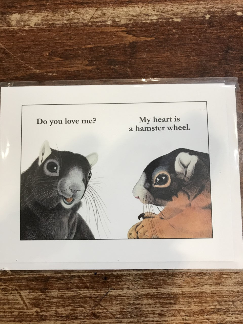The Mincing Mockingbird Love/Friendship Card-Hamster Wheel