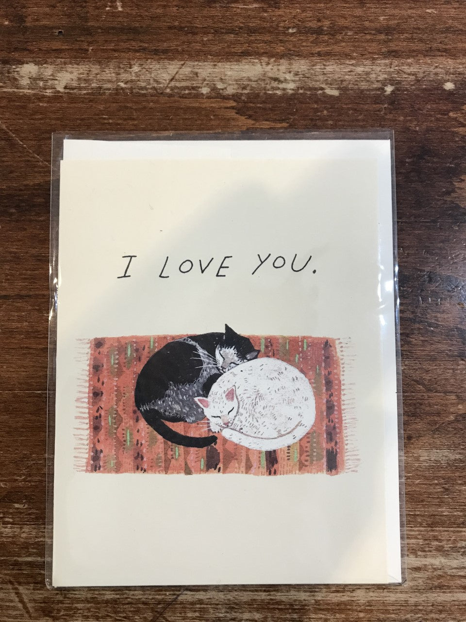 Red Cap Cards Love Card-Love You Cats