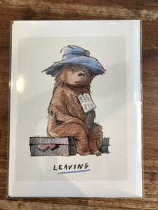 Museums and Galleries Blank Card-Paddington Bear Sitting
