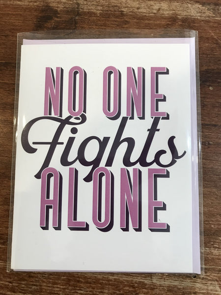 Tiramisu Paperie Encouragement Card-No One Fights Alone (PANCAN)