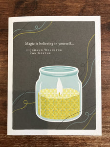 Compendium Encouragement Card-Magic is Believing in Yourself