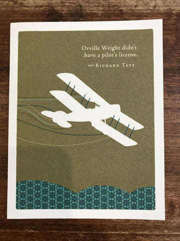 Compendium Encouragement/Graduation Card-Orville Wright