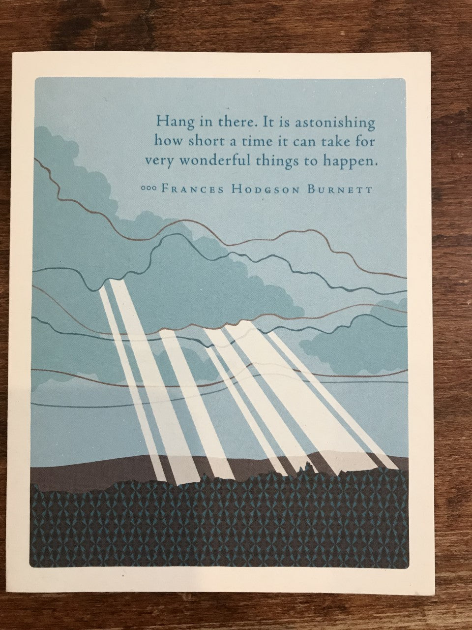 Compendium Encouragement Card-Hang in There