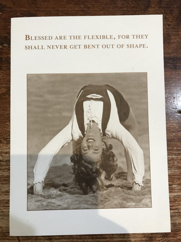 Shannon Martin Just For Fun Card-Blessed are the Flexible