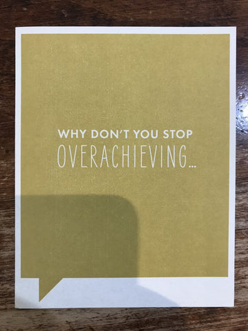 Frank & Funny Congratulations/Graduation Card-Why Don't You Stop