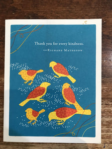 Compendium Thank You Card-Thank You For Every Kindness