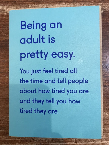 Ohh Deer Blank Card-Being An Adult is Pretty Easy