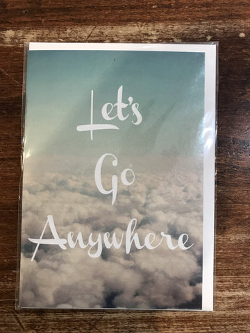 Lagom Design Blank Card-Let's Go Anywhere