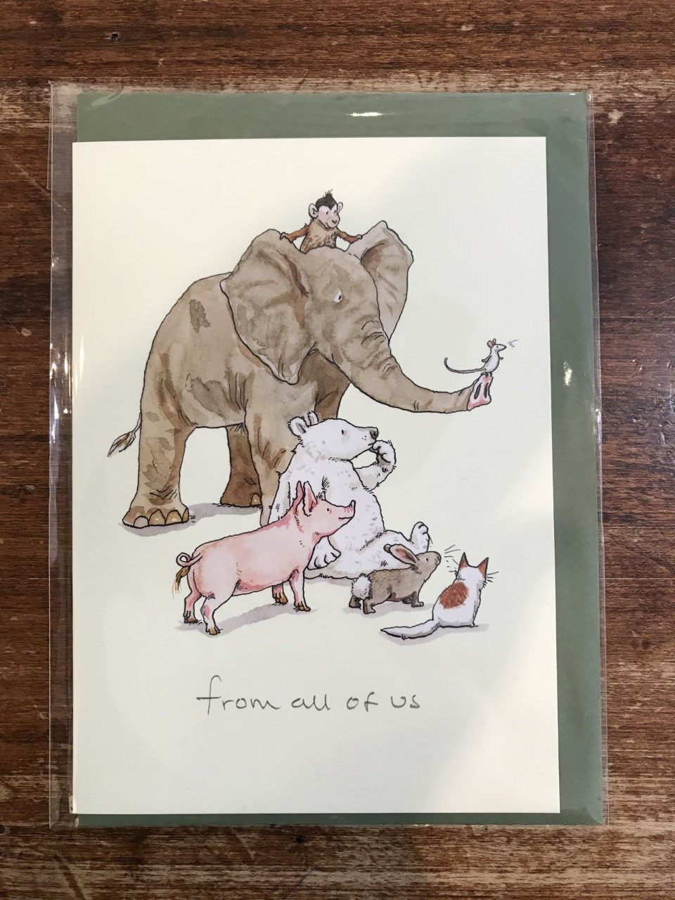 Two Bad Mice Blank Card-From All of Us