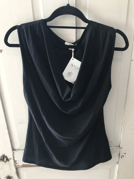 St. Geneve Drape Neck Top
