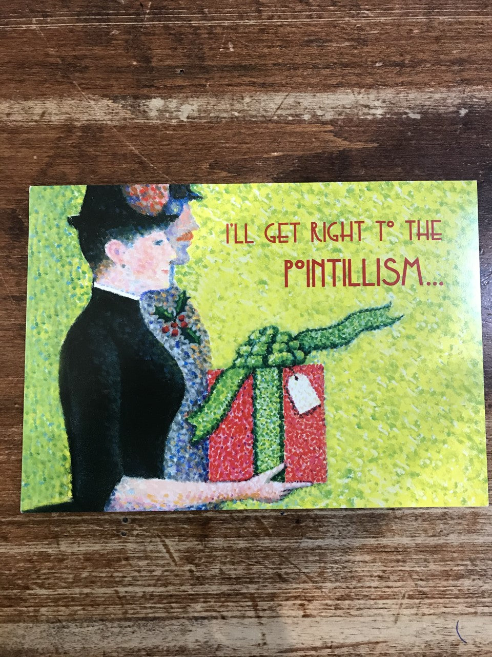 Allport Editions Holiday Card-I'll Get Right To The Pointillism