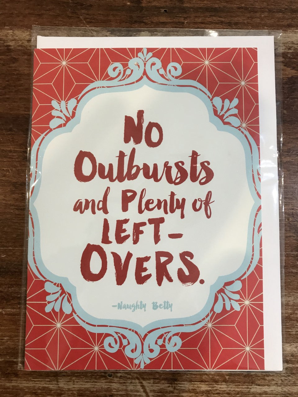 Calypso Holiday Card-No Outbursts