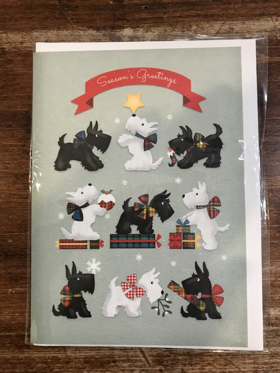 Calypso Holiday Card-Christmas Scotties