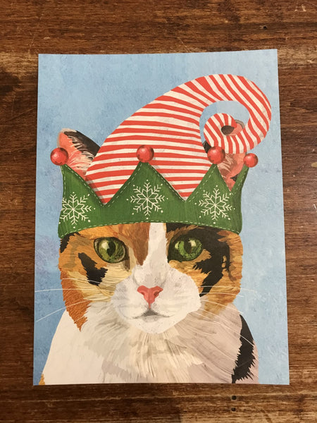 Allport Editions Holiday Card-Calico Cat
