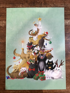 La La Land Christmas Card-Kitty Christmas Tree