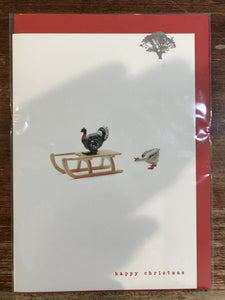 Lonetree Cards Christmas Card-Turkey and Goose