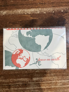 Smock Holiday Card-Peace on Earth Globe