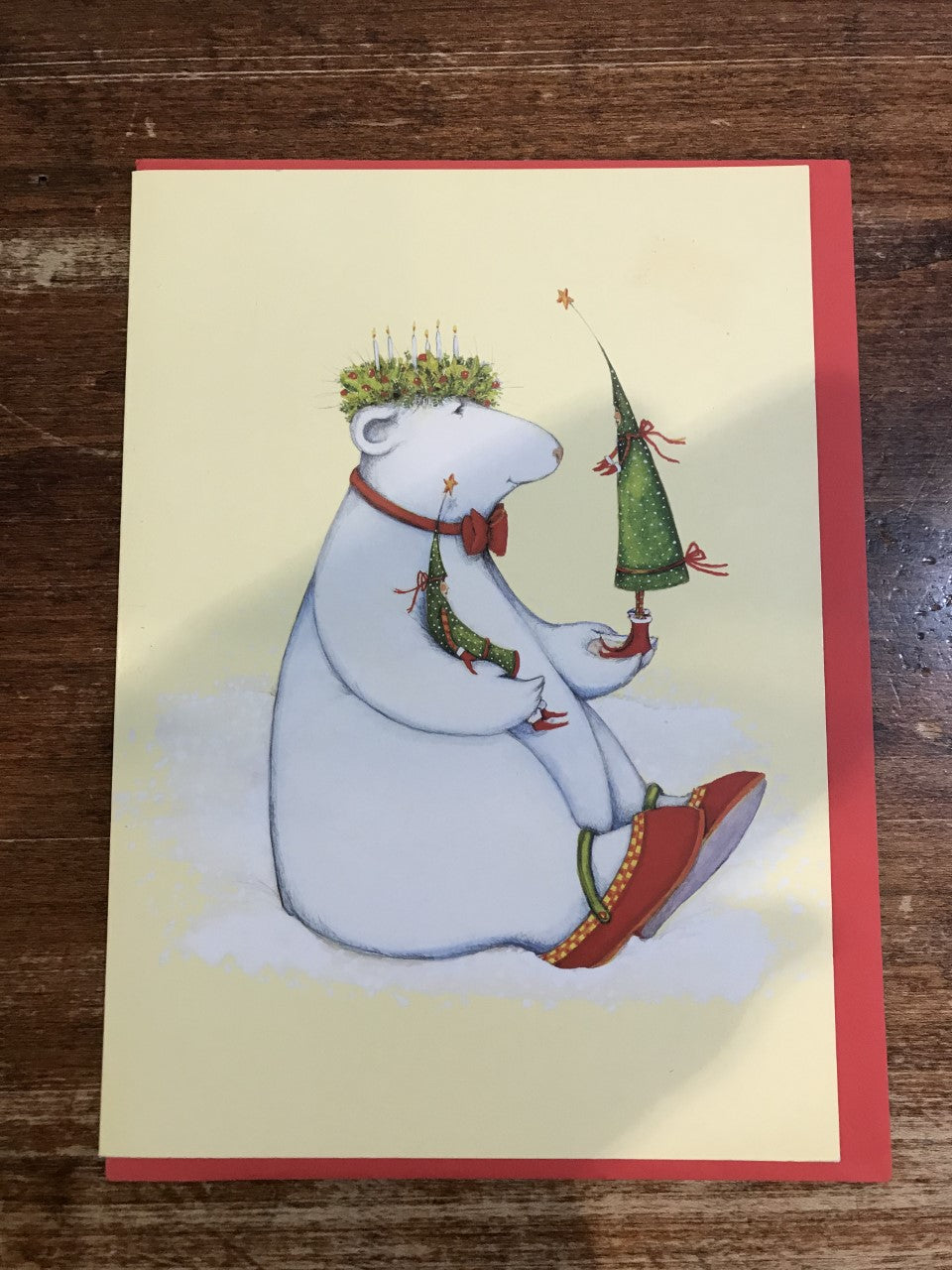 Patience Brewster Christmas Card-Polar Bear With Tree