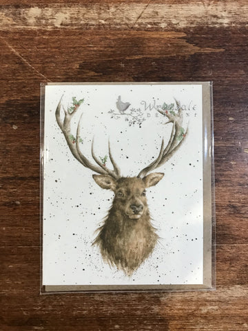 Wrendale Christmas Enclosure-Christmas Stag