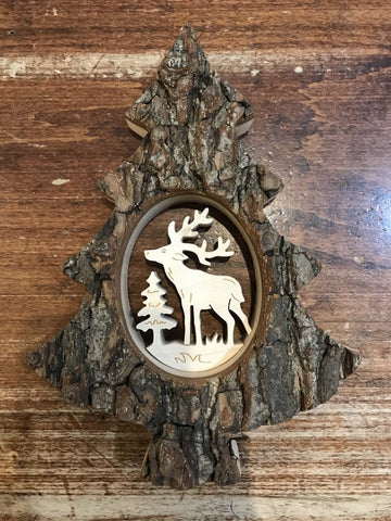 Waldfabrik Wooden Tree Decoration-Deer