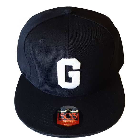 Homestead Grays Black and White Fitted Hat