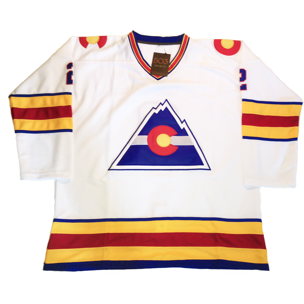 colorado rockies white hockey jersey  (1299631276140)