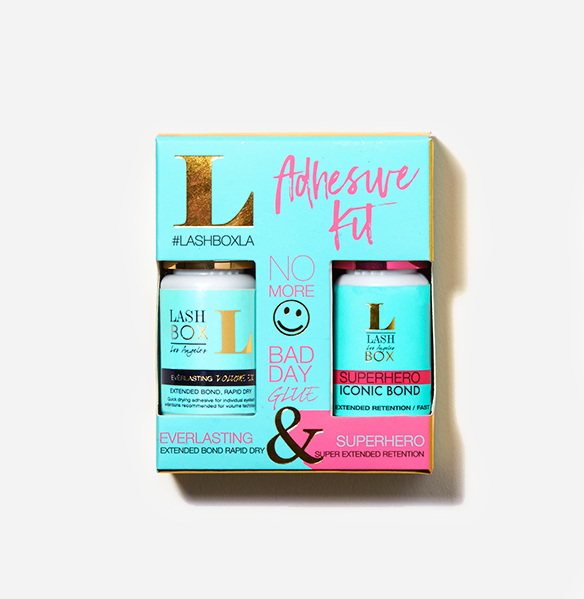 EVERYDAY ADHESIVE KIT (SUPERHERO AND EVERLASTING 5ML)-LashBox LA Australia