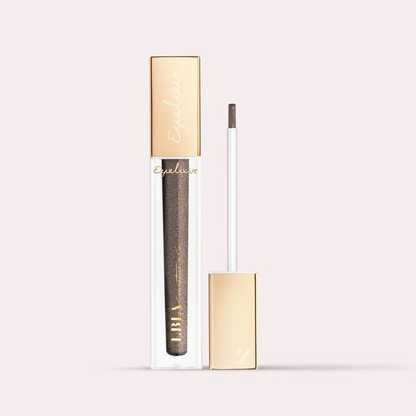 LBLA COSMETICS & CO. EYELIXIR Eye lash extension safe eyeshadow shimmer eyeshadow colour Electric feel Deep brown shimmer