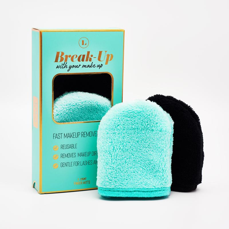 BREAK UP WITH YOUR MAKEUP - MAKEUP REMOVER MITTS - RETAIL SET