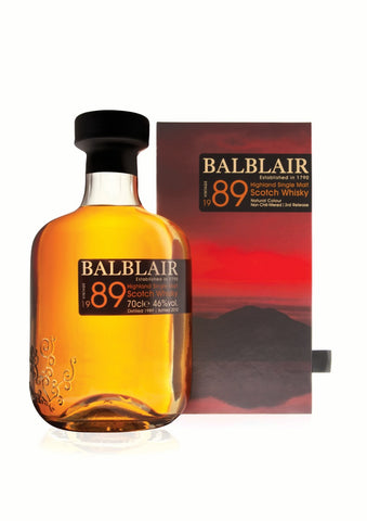 Balblair Vintage 1989 Scotch and Rich
